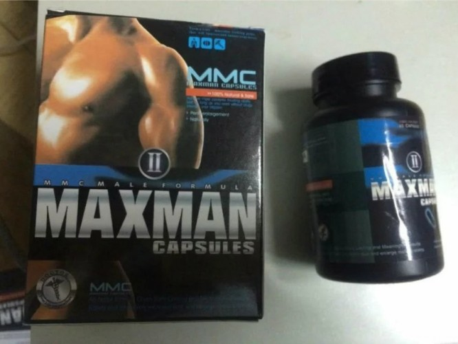 MAXMAN II Natural Male Performance Supplements Penies Enlargement Pills Stronger