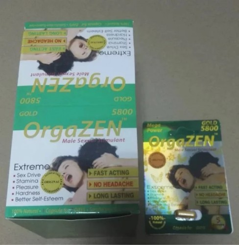 Orgazen 5800 Male Organ Enlargement Pills Stimulant Mega Power Herb Ingredient
