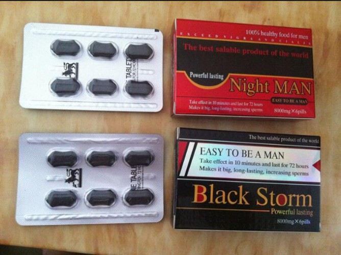 Black Storm 8000mg Herbal Male Enhancement Pills Healthy For Men Penis Enlargement