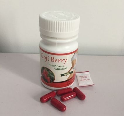 China Natural Goji Berry Extract Weight Loss Capsule Red Slimming Botanical Capsules supplier