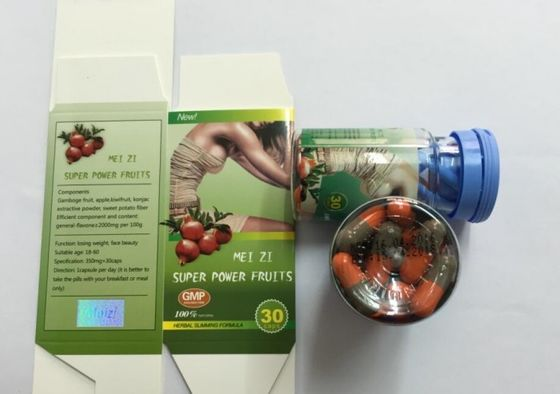 China Meizi Super Power Botanical Fruit Slimming Capsule , Fast Weight Loss Supplements supplier