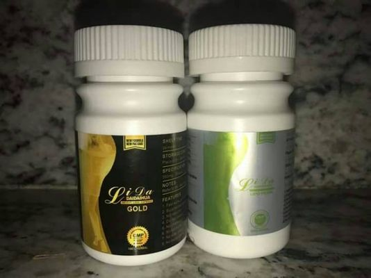 China 100% Lida Weight Loss Pills , Gold Black Natural Slim Capsules Herb Plant Material supplier