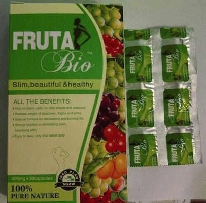 China Fruta Bio Natural Weight Loss Diet Pills Slimming Type With 400mg*30 Capsules supplier
