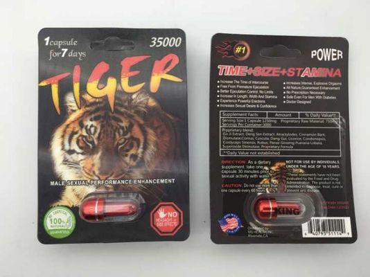 China Tiger 35000 Capsule Sexual Enhancement Pill 3D Male Herb Ingredient 3 Years Guarantee supplier