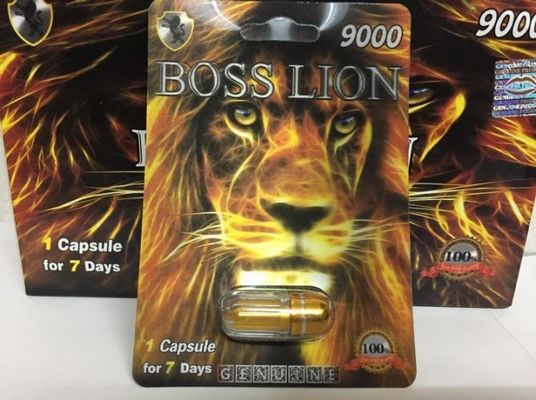 China Boss Lion 9000 Male Sexual Enhancement Pill Card Type For Stimulate Performance supplier
