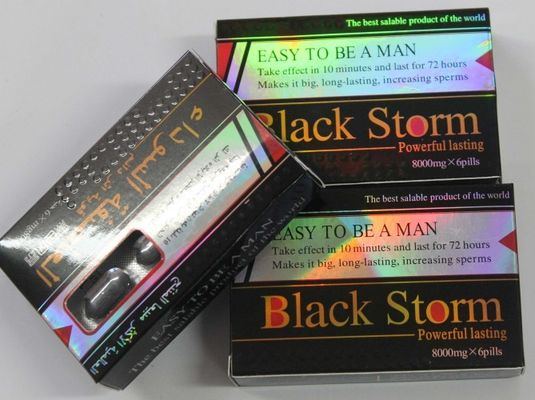 China Black Storm 8000mg Herbal Male Enhancement Pills Healthy For Men Penis Enlargement supplier