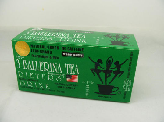 3 Ballerina Herbal Slimming Green Tea 18 Bags / Box Strong Effect Reduce Weight