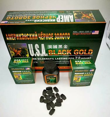 China Black Gold Herbal Male Enhancement Pills For Fast Acting Rock Hard Erections supplier