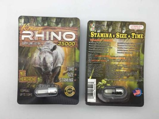 China Rhino 35000 3D Sex Power Increase Capsule Strong Effect 24 Cards Per Box For Men distributor
