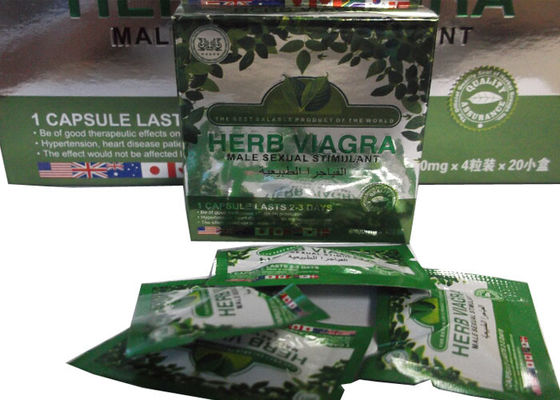 China Viagra Health Care Herbal Natural Male Enhancement Supplements 20 * 4 Caps / Box distributor