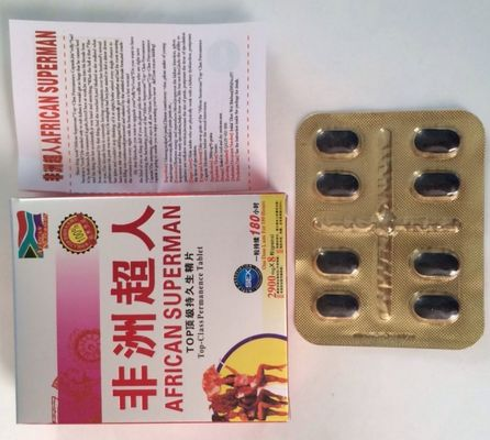 China 2900mg Male Enhancement Herbal Supplements Sex Pills Black Color For ED Improvement distributor